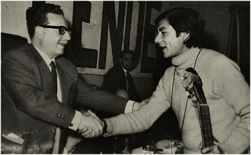 Nano Acevedo y Salvador Allende