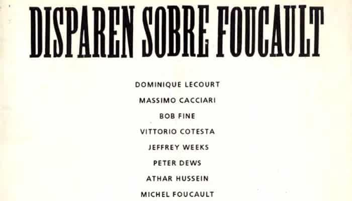 Horacio Tarcus (comp.): Disparen sobre Foucault (1993)