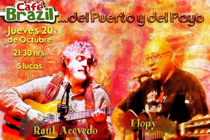 Raúl Acevedo y Flopy recuerdan a Payo Grondona en el Café Brazil