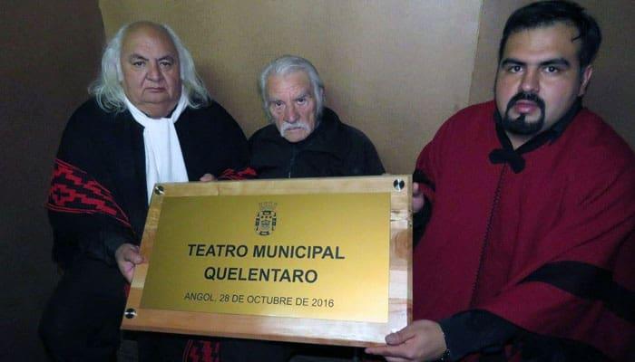 """Angol rinde homenaje a los hermanos Eduardo y Gastón Guzmán y llama oficialmente a su Teatro Municipal: """"Quelentaro"""""""