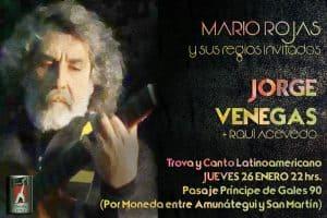 Este 26 de enero: Mario Rojas recibe a Jorge Venegas en La Chimenea