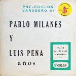 Pablo Milanés – Luis Peña: Años (1980)