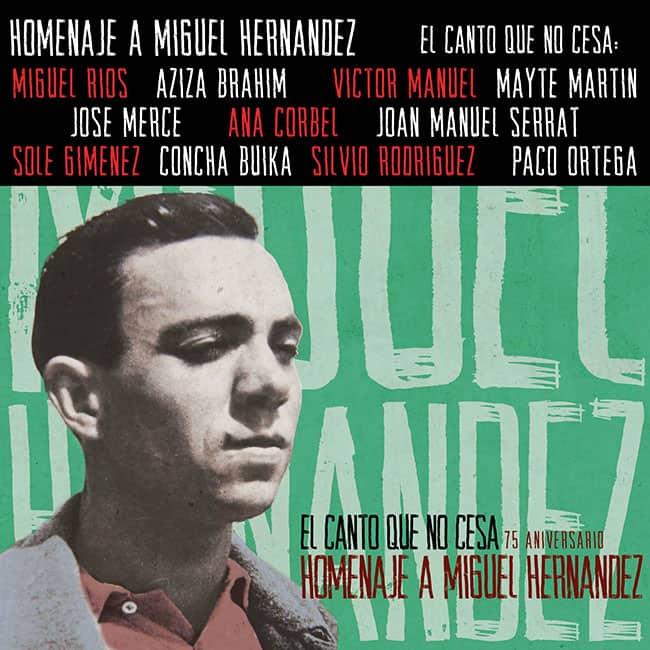 Obra colectiva: El canto que no cesa. Homenaje a Miguel Hernández (2017)